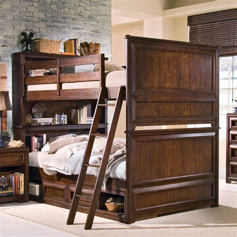 elite expressions bookcase full  full bunk bed