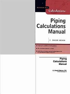 Piping Calculations Manual  Front Cover To 300  Pdf