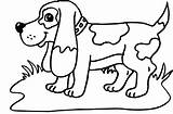 Hound Coloring Basset Pages Via sketch template