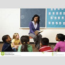 Teacher Reading To Students Stock Image  Image Of Class, Book 12528945