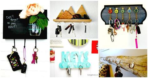 easy diy key holders  rack ideas diy crafts