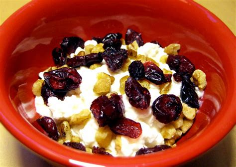 cottage cheese snacks cottage cheese walnuts and craisin snack popsugar fitness