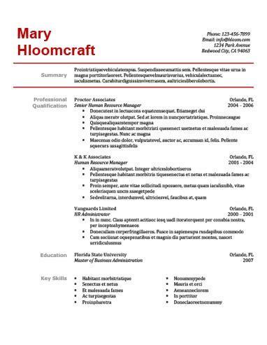 simple resume templates 75 exles free hloom