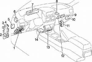 Toyota Corolla Fuse Box Diagram  1995