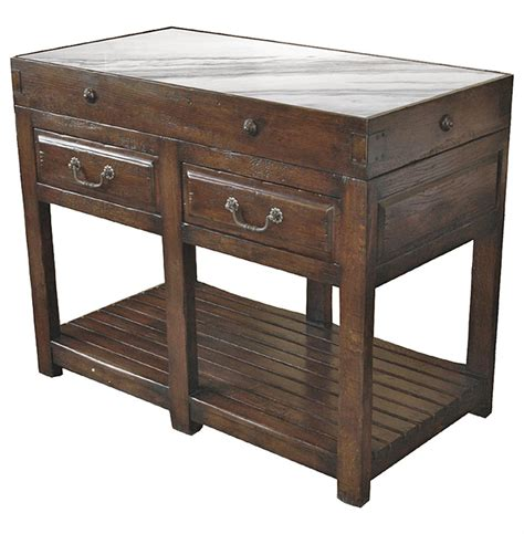 clement french cottage oak butcher block white marble