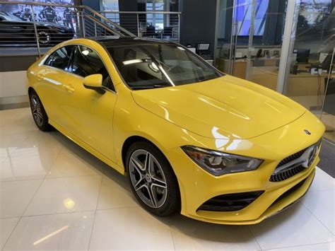 The 2020 cla premiered at the consumer electronics show (ces) in las vegas in january. 2020 Mercedes-Benz CLA 250 4MATIC Coupe | Sun Yellow 20-1016