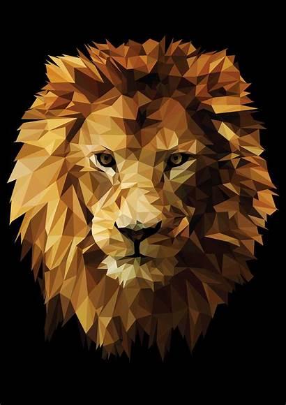 Lion Poly Low Illustration Behance Lindsay Conn
