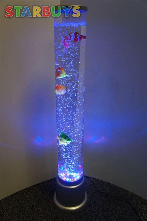 bubble tube floor l colour changing led sensory light mood bubble fish water