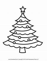 Tree Christmas Coloring Pages Outline Printable Clip Template Printables Children sketch template