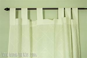 Tutorial how to update out dated tab top curtains for Pull up curtains how to make