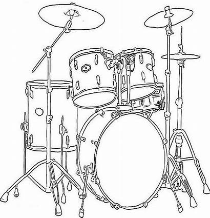 Coloring Pages Instruments Musical Colouring Drum Drums