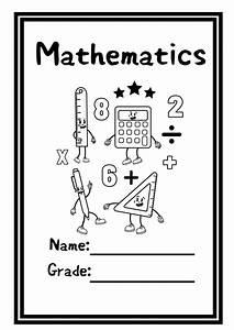 Mathematics Printable Book Covers  X3