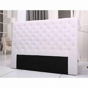Tete De Lit Bois Blanc : tete de lit en tissu blanc ~ Teatrodelosmanantiales.com Idées de Décoration