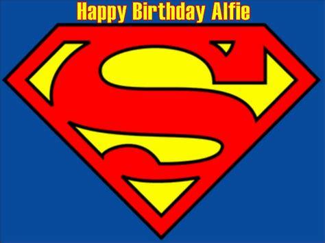 superman logo edible icing  wafer birthday cake top