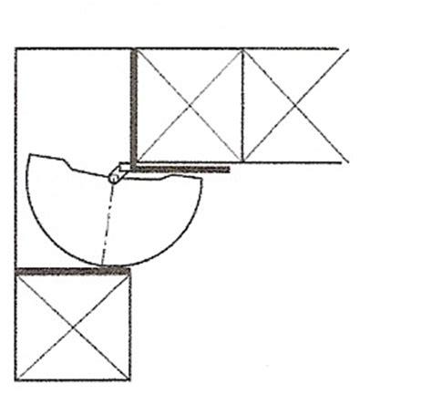 panier demi lune pour cuisine pour meuble d angle bas avec plateaux ferrures