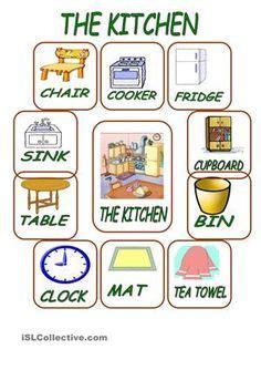 english worksheet furniture vocabulary english