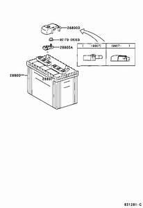 2000 Toyota Land Cruiser Battery Terminal Cover  Clamp  Bracket  Engine - 8282160070