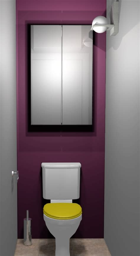 d 233 co toilettes prune et gris