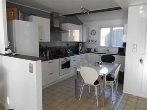 cuisine indogate cuisine blanche mur bleu canard cuisine With cuisine blanche mur gris