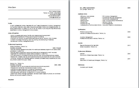 Resume Inventory Management by Accounting Descriptions Accountant Description