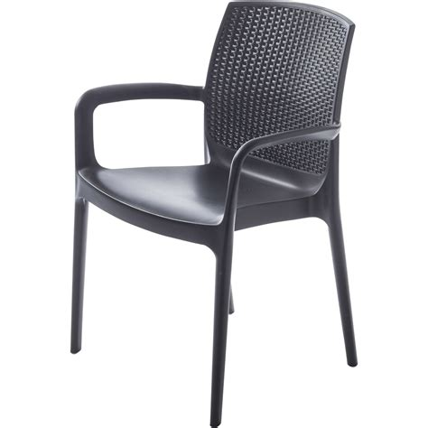 table de cuisine conforama fauteuil de jardin en résine tressée bohême anthracite
