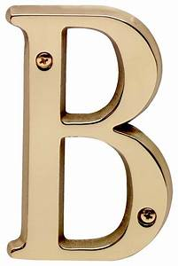 house numbers bright solid brass 4quot house letter b With exterior letters and numbers