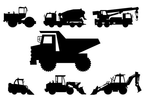 Construction Equipment Silhouette Images