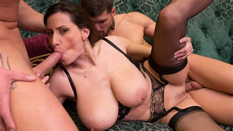 Sensual The Big Tits Milf Gets Fucked By 2 Men Your