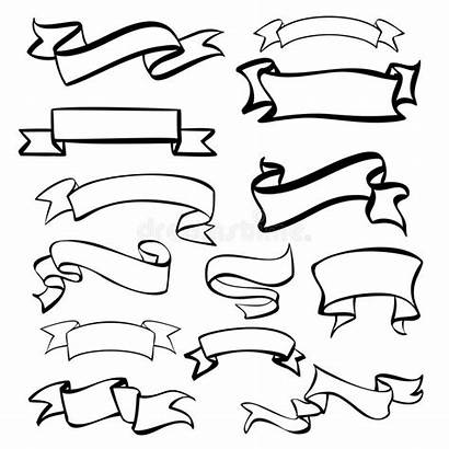 Banners Sketch Vector Labels Drawn Hand Banner