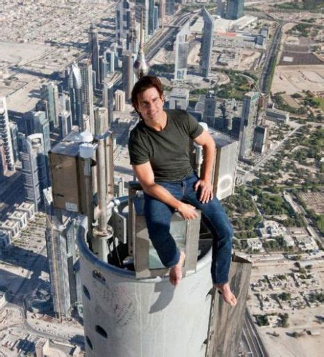 Tom Cruise Sits On Top Of Worlds Tallest Building For