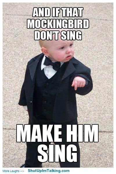 Suit Baby Meme - make him sing shut up i m talking