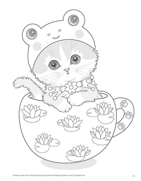 teacup kittens coloring book kayomi harai