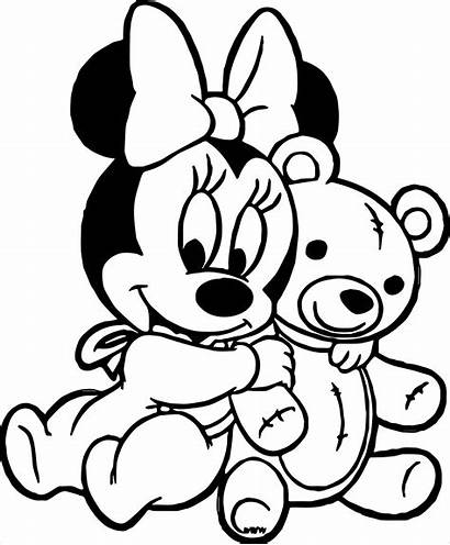 Minnie Coloring Mouse Mickey Coloriage Disney Bear