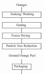 Process Flow Chart For The Manufacture Of Orange Peel