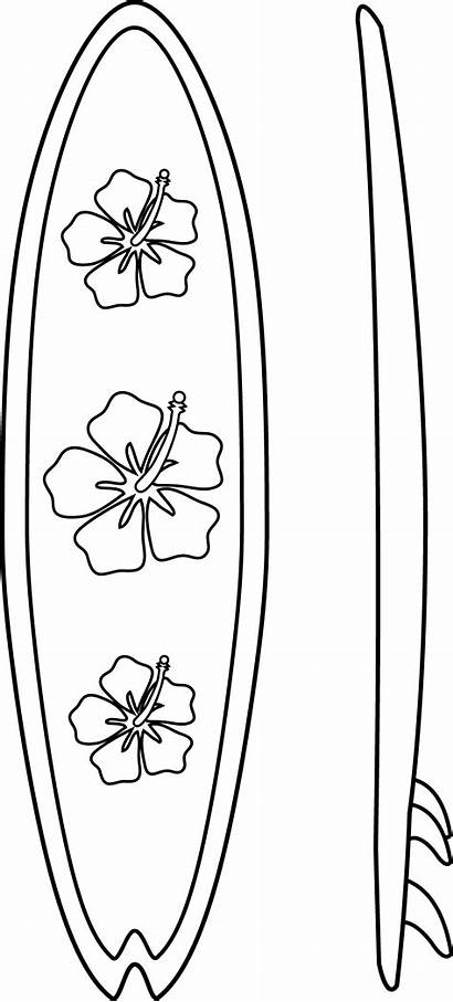 Coloring Surfboard Pages