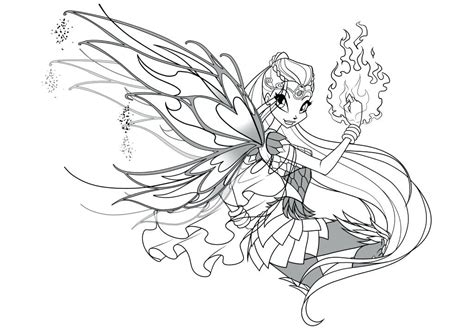 Winx Club Coloring Pages Bloomix
