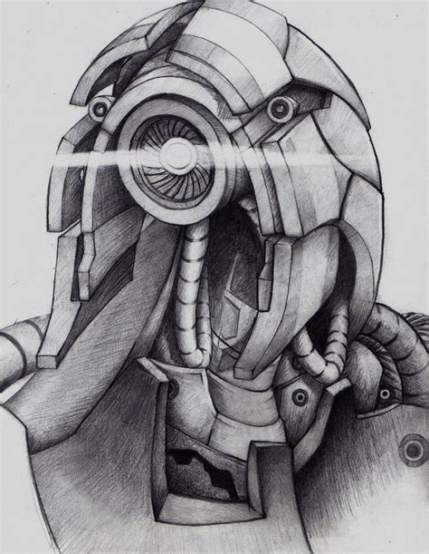 Legion Mass Effect Drawing Draw Mass Effect Legion
