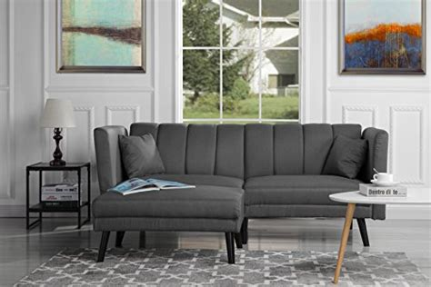 Divano Roma Furniture Mid-century Modern Linen Fabric