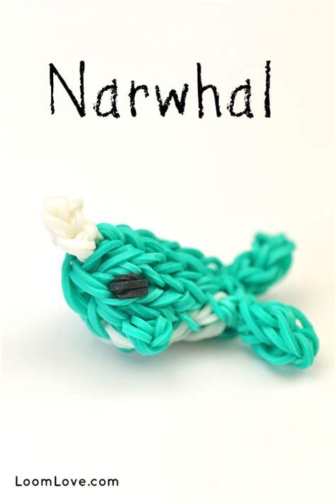 rainbow loom narwhal charm