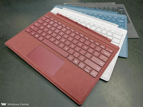 surface pro keyboard colors microsoft s new surface pro signature type cover comes in