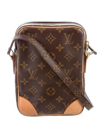 louis vuitton monogram danube crossbody bag handbags lou  realreal