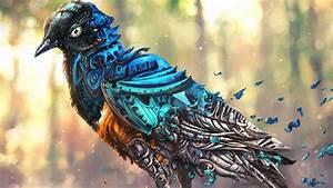Artwork, Fantasy, Art, Digital, Art, Robot, Birds, Clockwork, Wallpapers, Hd, Desktop, And, Mobile