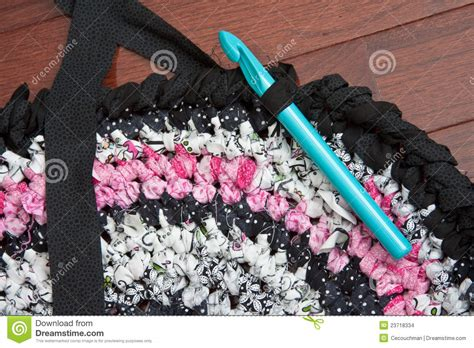 Rag Rugs To Make by Rag Rug With Crochet Hook Stock Images Image 23718334