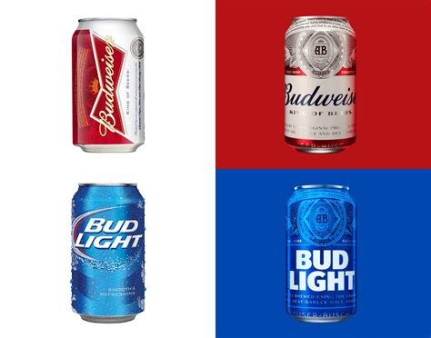 bud light can the of and branding look and logo medium