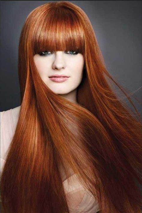fantastische mode ideen frau frisuren mit pony lange haare