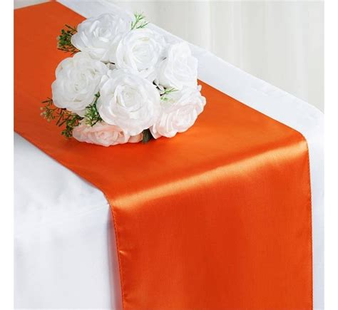 chemin de table orange chemin de table satin orange les couleurs du mariage