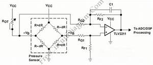 Pressure Sensor Signal Conditioning Circuit With Single Op