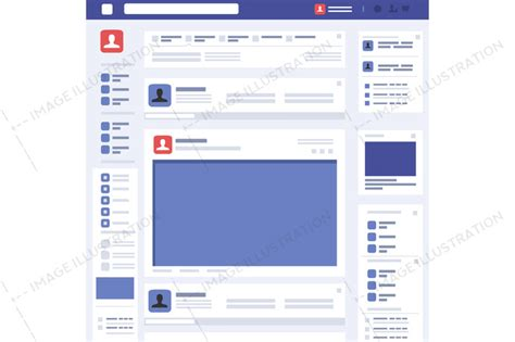 web page concept social page interface vector image