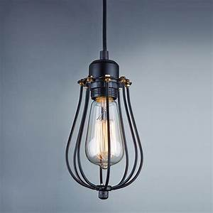 Vintage metal cage industrial pendant light hanging lamp