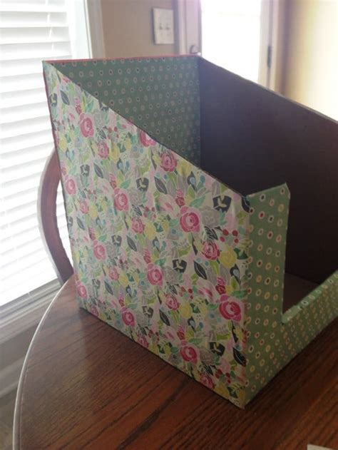 simple diy file paper organizer  teachers teach junkie